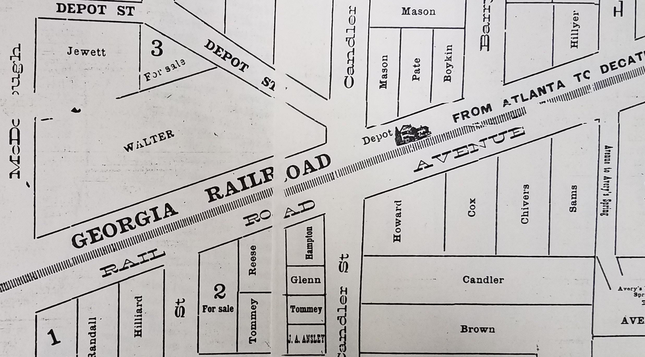 DeKalb Blog: old decatur map RR