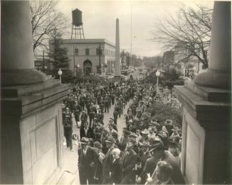 Decatur - public gathering on square