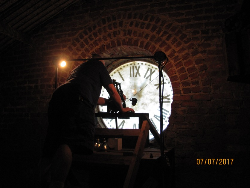 Historic Old Courthouse Clock Inside 008
