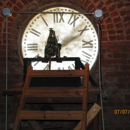 Historic Old Courthouse Clock Inside 019