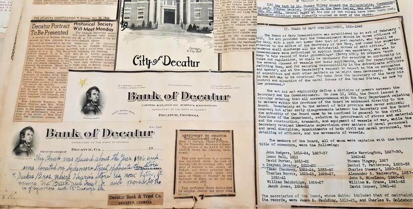 DeKalb Historical Society Scrabook