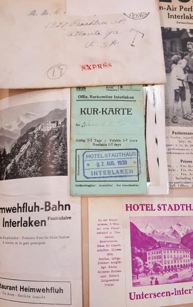 This page shows momentos from Interlaken Switzerland