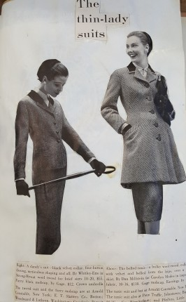 Slimmer suits became on trend in the 60's