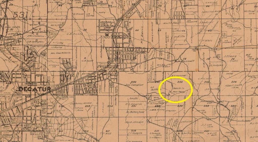 Historic Map of DeKalb County