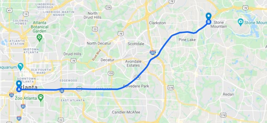 DeKalb History Center: Map of Memorial Drive.
