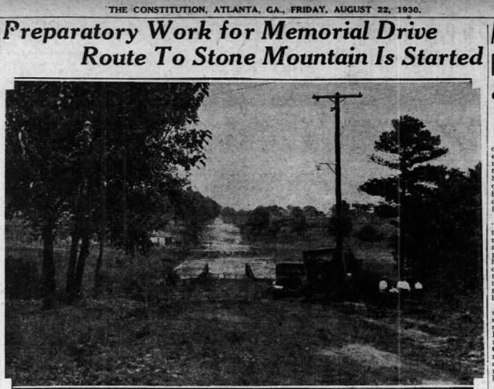 Memorial Drive and Whitefoord Road Construction